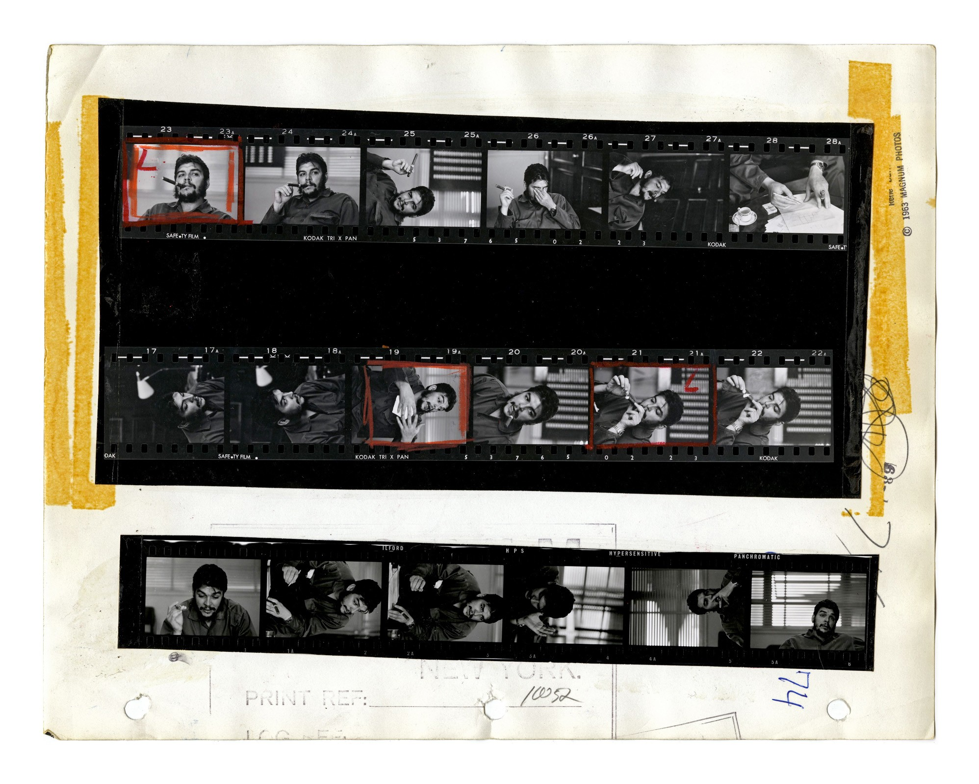 Cuba, 1963, Contact Sheet Rene Burri, Magnum Photos